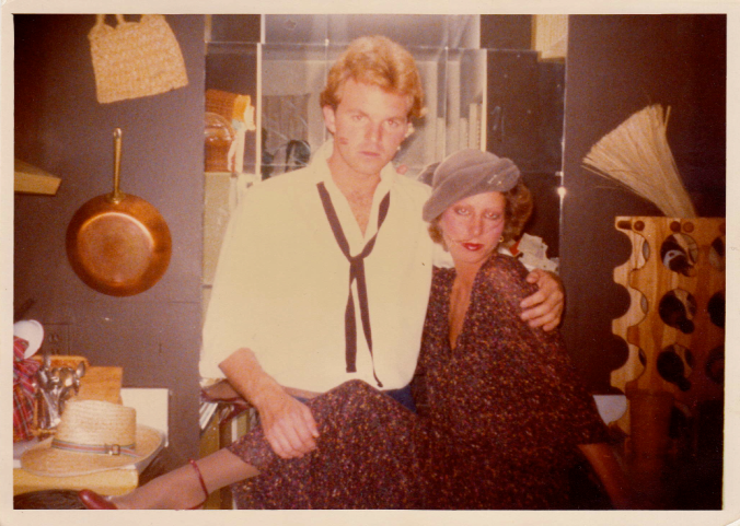Dressed up for a night out in New Orleans with a friend, 1979 Lousiana