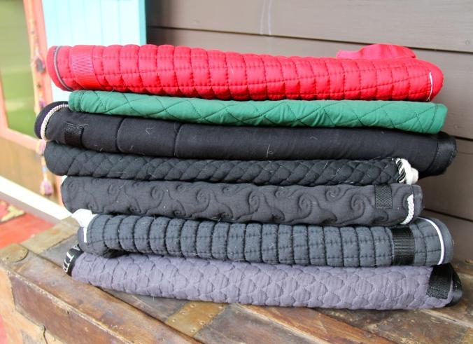 A plethora of saddle pads