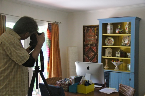 John Gessner photographing my house