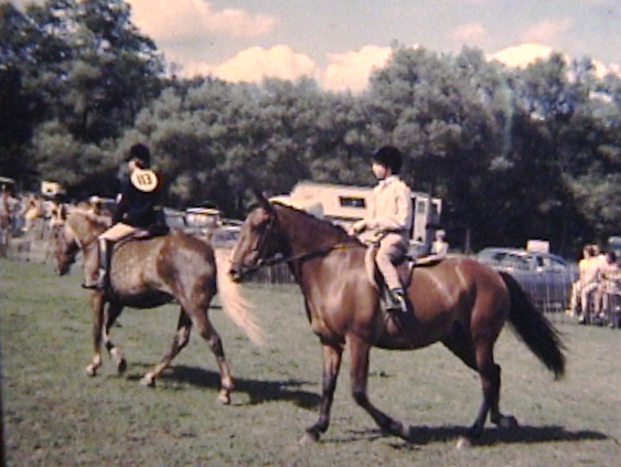 Vermont horse show, 1966; I'm riding the rotund bay pony on the right